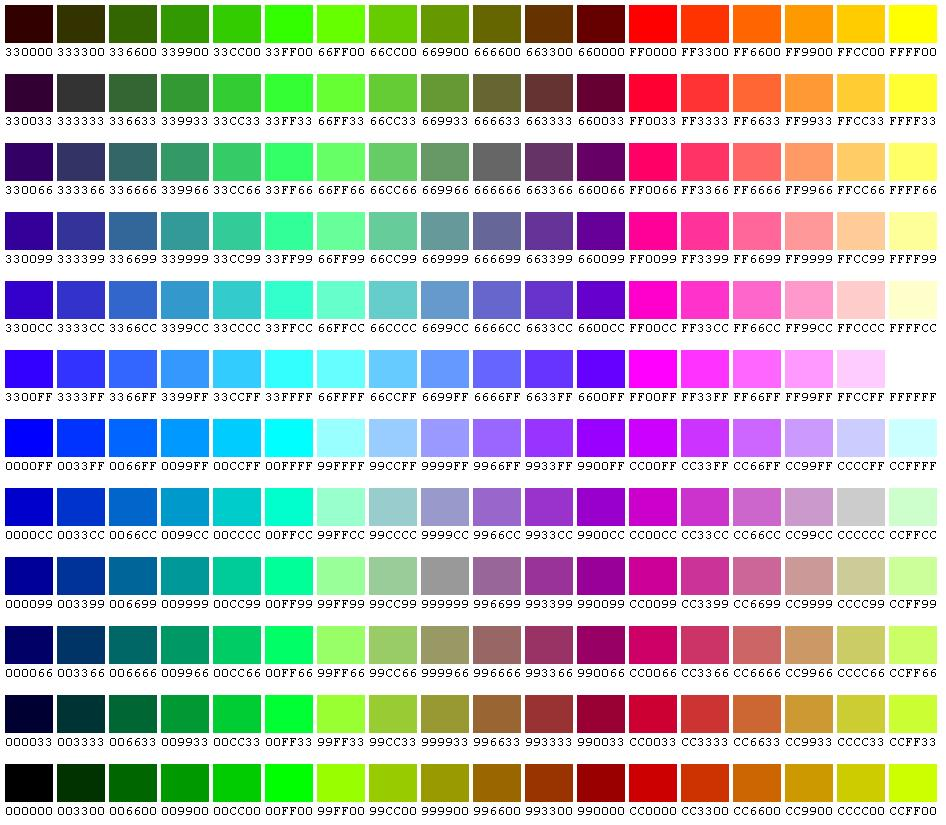 Html Color Codes And Names Iks Team Com